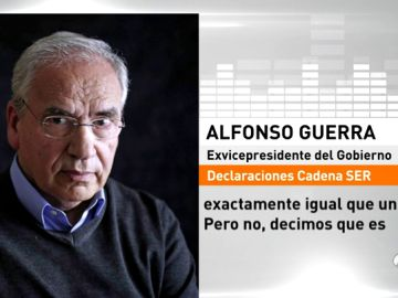 """Quim Torra, después de que Alfonso Guerra le llamase """"nazi"""": """"Le pido que retire inmediatamente este insulto intolerable y deleznable"""""""