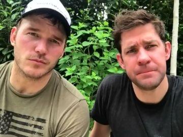 Chris Pratt y John Krasinski