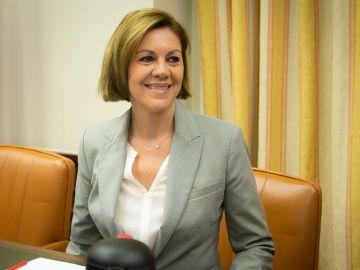 La ministra Cospedal en su comparecencia en la Cámara Baja
