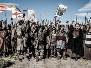 Barcelona celebra la victoria ante el pueblo invasor