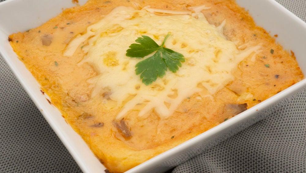 Pasteles de setas, jamón y queso