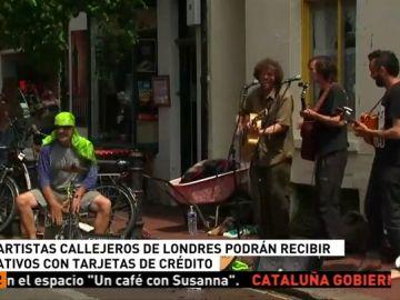 Londres repartirá dispositivos electrónicos a los artistas callejeros para que puedan recibir donativos con tarjetas de crédito o el móvil