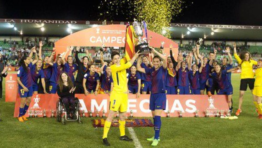 El Barcelona, con la Copa de la Reina