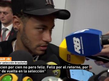 """<p>Neymar: """"Aún no estoy al cien por cien, pero estoy feliz""""</p>"""