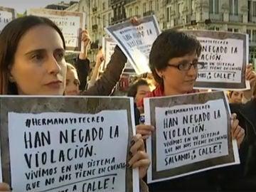 Imagen de archivo de las protestas contra la sentencia de La Manada