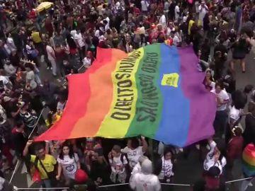 <p>Sao Paulo celebra el Orgullo LGBT y manda un recado político en año electoral</p>