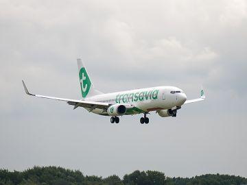 Un avión de la aerolínea Transavia