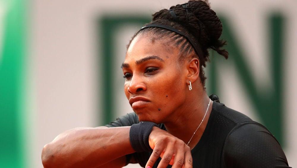 Serena Williams, en un partido de Roland Garros