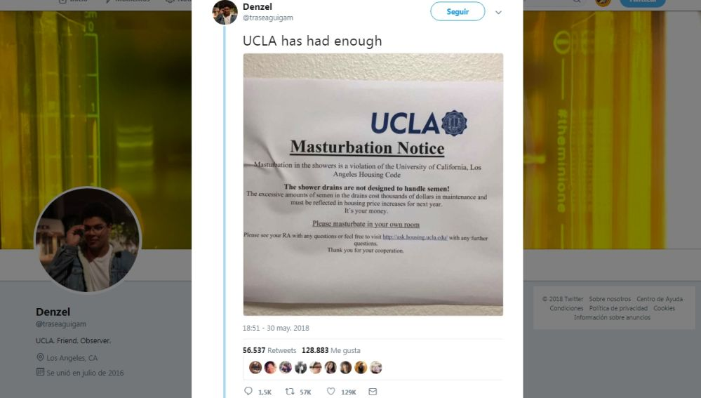 Cartel en la Universidad de California