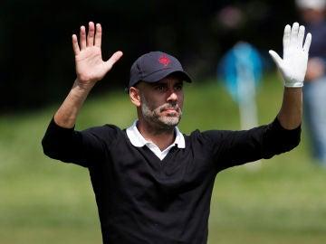 Guardiola, en un torneo de golf