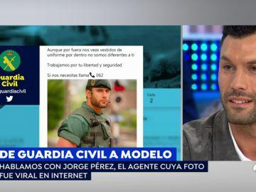 """<p>Jorge Pérez, el guardia civil que se hizo famoso, sobre los piropos en redes: """"Están enfocados en clave de humor y con respeto"""" </p>"""