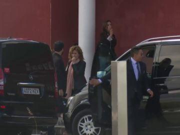 <p>Miembros del Govern de Torra llegan a Estremera</p>