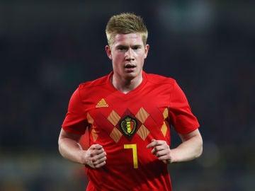 Kevin De Bruyne, con la selección belga