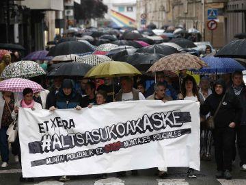 """Cientos personas rechazan en Alsasua la sentencia y los """"montajes policiales"""""""