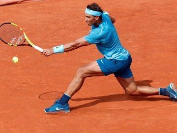 Rafa Nadal, en su partido ante Diego Schwartzman
