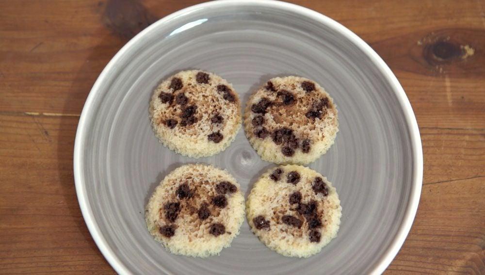 Cookies de chocolate al microondas