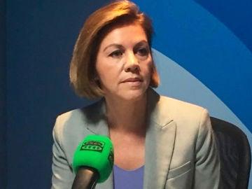 María Dolores de Cospedal durante una entrevista en Onda Cero
