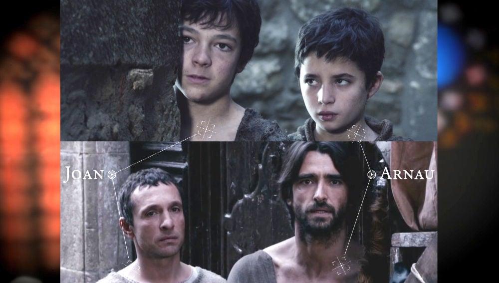 ¿En qué se parecen Arnau y Joan en su paso de niños a mayores?