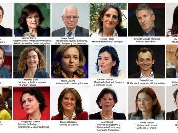 La lista de ministros y cargos del Gobierno de Pedro Sánchez