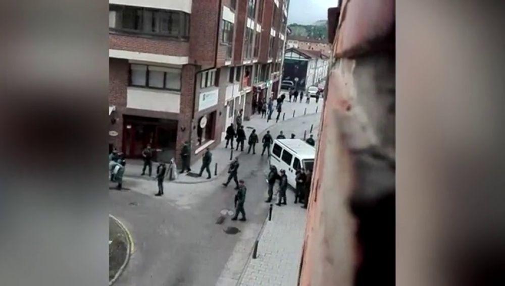 <p>Protestas en Alsasua tras la entrada en prisión de los jóvenes que agredieron a guardias civiles</p>