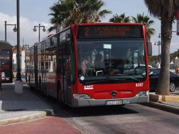 Un autobús de la EMT de Valencia