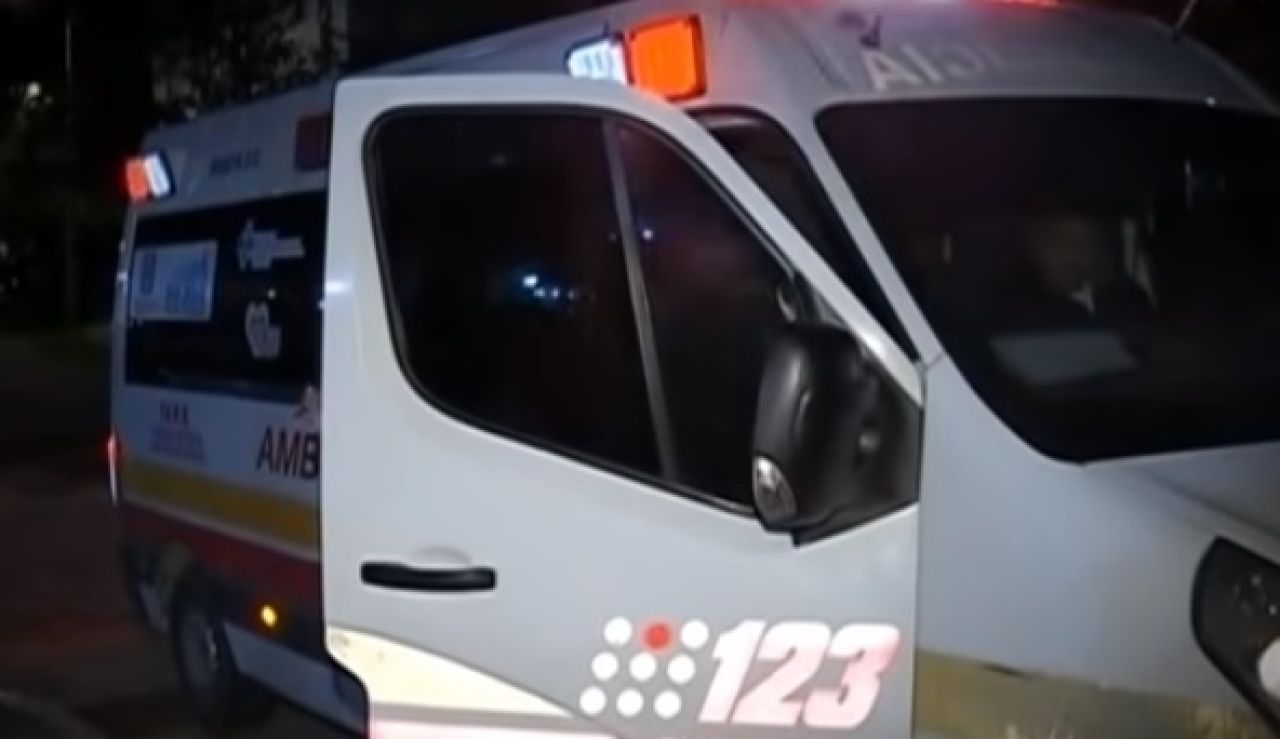 Ambulancia desplazada al lugar de los hechos en Bogotá