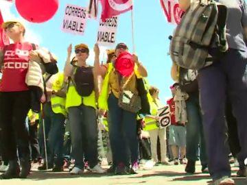 Los trabajadores de Correos inician este jueves una jornada de paros parciales y concentraciones