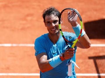 Rafa Nadal celebra la victoria ante Diego Schwartzman