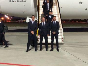 Lopetegui, Rubiales y Ramos, a la llegada de España a Krasnodar