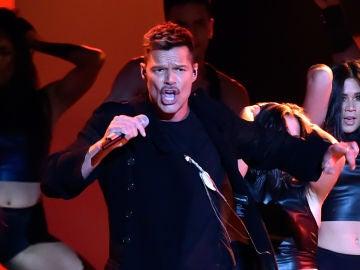 Ricky Martin durante su actuación en los Premios Billboard