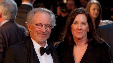 Steven Spielberg junto a Kathleen Kennedy