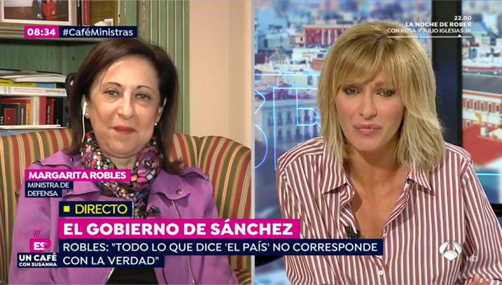 Margarita Robles, en una entrevista en Espejo Público
