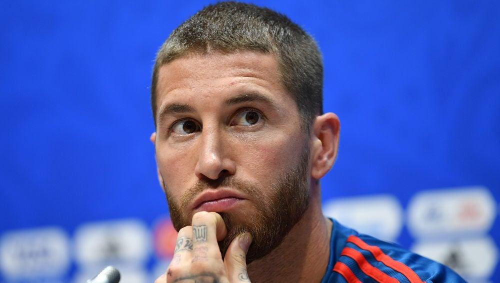 Sergio Ramos, en sala de prensa