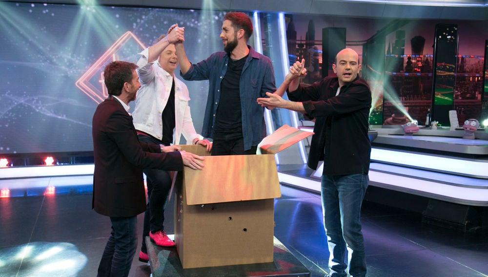 David Broncano se convierte en el protagonista de la sádica magia de Yunke y Jandro en 'El Hormiguero 3.0'