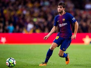 Sergi Roberto, durante un partido con el Barcelona