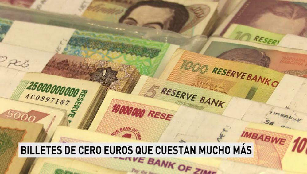 Billetes de cero euros que cuestan mucho más