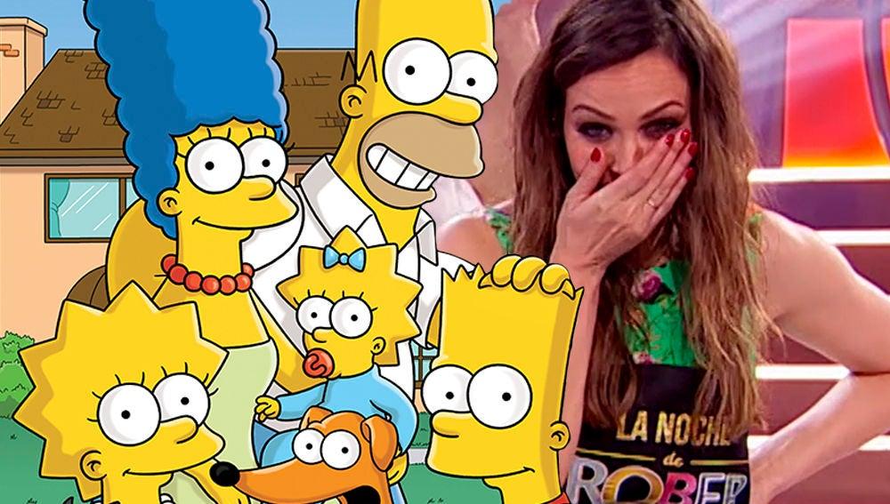 'Los Simpson' se cuelan en 'La noche de Rober' de la mano de Chicote, Eva González y Roberto Vilar