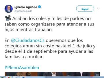 Tuit de Ignacio Aguado