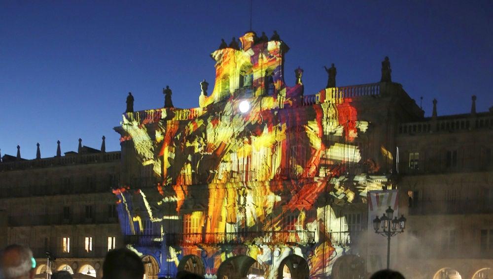 Imagen de Salamanca durante el Festival de la Luz y Vanguardias