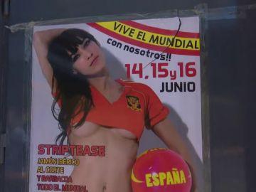 Stripteases y jamón ibérico para ver el Mundial de Fútbol, el plan que ofrece el prostíbulo más grande de España
