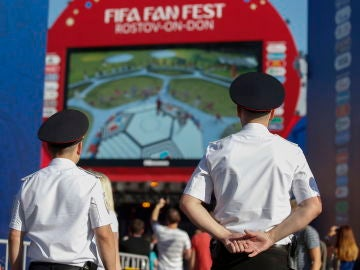 Una 'fan zone' en Rusia