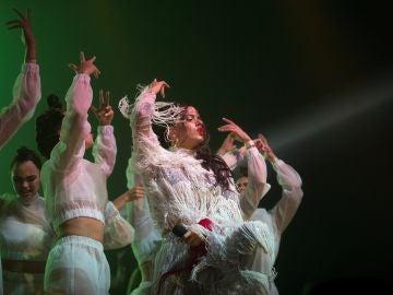 Rosalía durante su actuación en Sónar Barcelona 2018