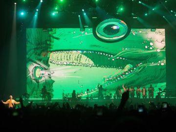 El grupo 'Gorillaz' en su actuación en el Festival Sónar