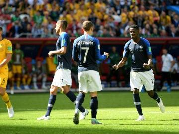 Griezmann celebra un gol con Francia