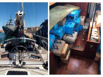 280 fardos de droga en un velero