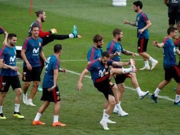 España, en un entrenamiento