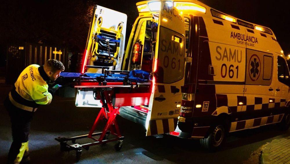 Imagen de archivo de un ambulancia del SAMU 061