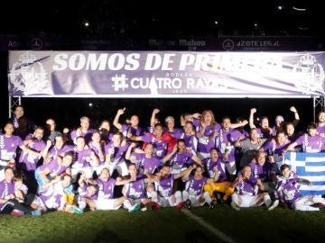 El Valladolid celebra el ascenso