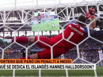 Halldorsoon, portero de Islandia que paró el penalti a Messi, es director de cine