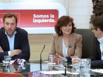 Óscar Puente, Carmen Calvo y Patxi López